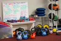 Kettlebells, hand weights, ab wheels, medicine balls...